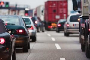 Verkehrsstau auf deutschen Strassen